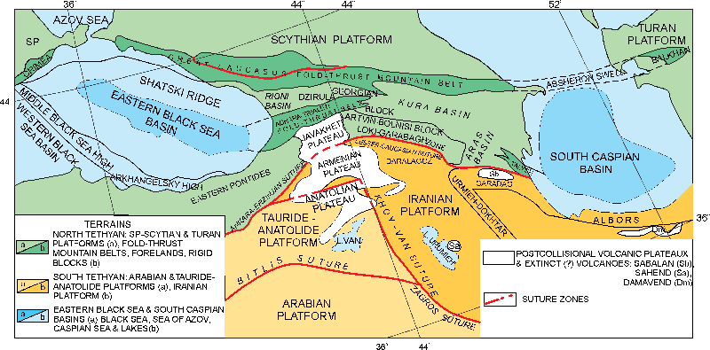 Tethyan evolution and continental collision in Georgia